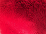 FAUX FUR SHAGGY RED