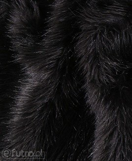 FAUX FUR FOX BLACK