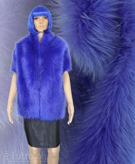 FAUX FUR FOX BLUE
