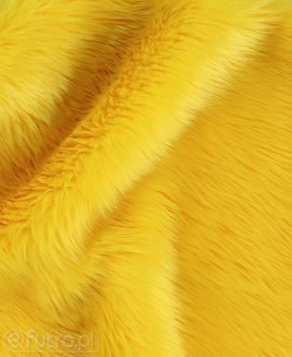 FAUX FUR SHAGGY YELLOW