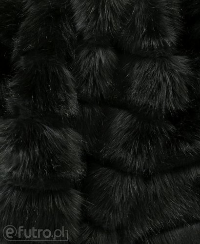 FAUX FUR LAYERED BLACK