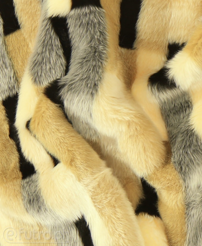 FAUX FUR FOX PAWS BEIGE