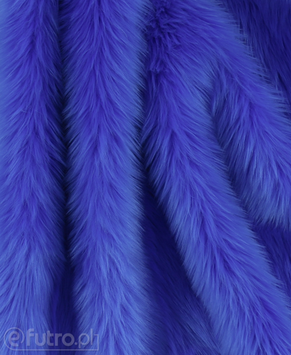 FAUX FUR SHAGGY BLUE