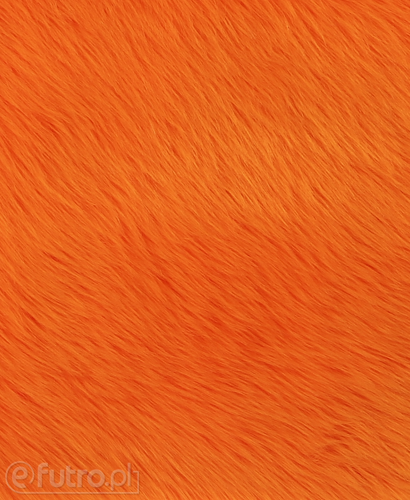 FAUX FUR SHAGGY ORANGE