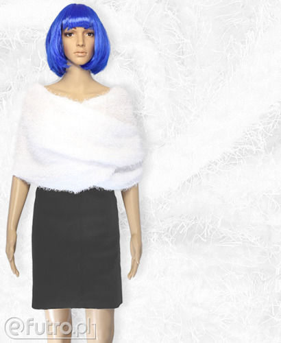PLUSH KNITWEAR SILK VELOUR WHITE